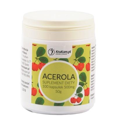 Acerola kapsułki 100szt Naturalna witamina C